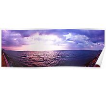 Storm Inbound - Pattaya Sunset Panorama Poster