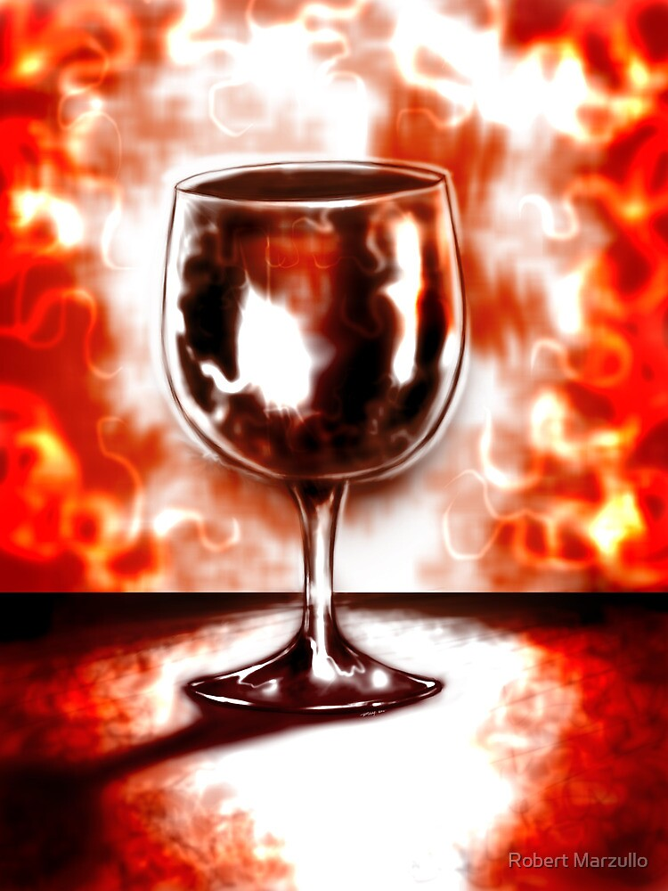 Wine glass by R.A.M. Abstract by Robert Marzullo