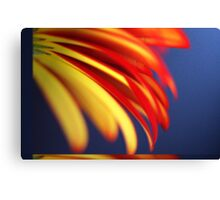 Yellow with Red - Pastel Canvas Print