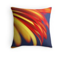 Yellow with Red - Pastel Throw Pillow