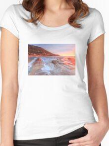 Sea landscape Women's Fitted Scoop T-Shirt