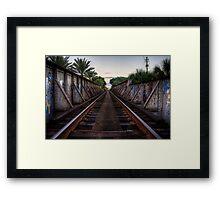 Railroad Bridge - Gainesville, FL Framed Print