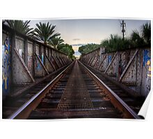 Railroad Bridge - Gainesville, FL Poster