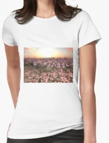 Lotus Sunset Womens Fitted T-Shirt