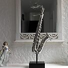 Sax in the Mirror by kathrynsgallery