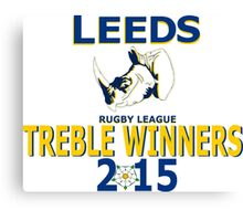 LEEDS Rugby League Treble winners Canvas Print