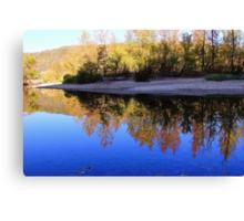 Cobalt Sky, Autumn Reflections Buffalo National River Canvas Print