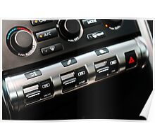 2009 Nissan GT-R Control Panel Poster