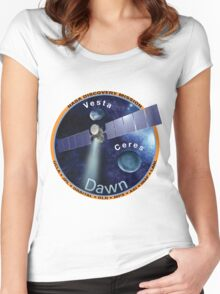 Dawn Mission Logo Women's Fitted Scoop T-Shirt
