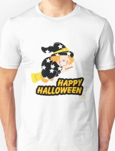Cute Witch Happy Halloween Unisex T-Shirt