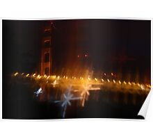 The Shimmering Golden Gate Poster