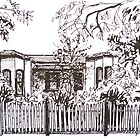 Kensington, Melbourne Victoria.  Bellair St.  by Elizabeth Moore Golding