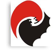 Bat v Super Canvas Print
