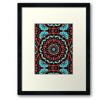 Abstract - Wood & Turquoise Pattern   Framed Print