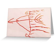 flame arrow Greeting Card