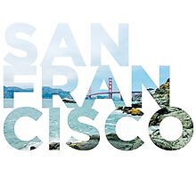 San Francisco Picture Word Photographic Print