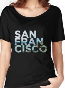 San Francisco Picture Word Women's Relaxed Fit T-Shirt