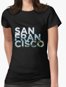 San Francisco Picture Word Womens Fitted T-Shirt