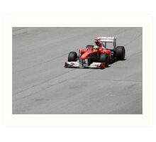 Ferarri and Fernando Alonso Art Print