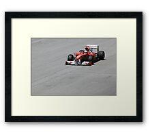 Ferarri and Fernando Alonso Framed Print