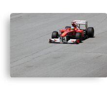 Ferarri and Fernando Alonso Canvas Print