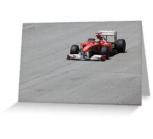 Ferarri and Fernando Alonso Greeting Card
