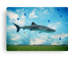 Swimming High In The Deep Sky... Canvas Print