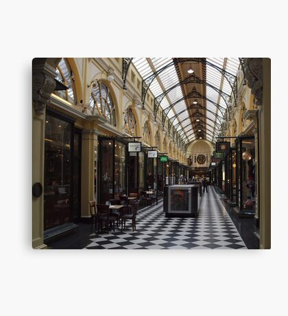 Royal Arcade. Melbourne. Canvas Print
