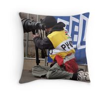 Photographing Photographers. Throw Pillow