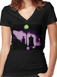 The Power of Bats Compels You! Women's Fitted V-Neck T-Shirt