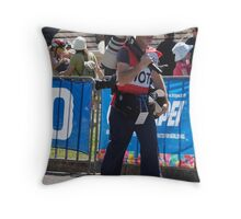 Photographing Photographers. The Long Lens Hill Climb. Throw Pillow