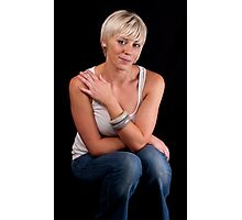 Tracey - Casual Fashion Sitting Photographic Print