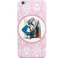 Alice in Wonderland | Alice, with Key in Hand, Pulls Back the Curtain to Find the Door to Wonderland  iPhone Case/Skin