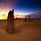The Pinnacles at Sunset by Jill Fisher