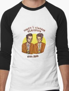 Honey and Vinegar Realestate Men's Baseball ¾ T-Shirt