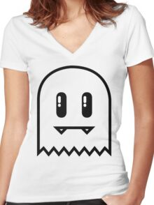 Retro Face Women's Fitted V-Neck T-Shirt