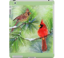 Cardinals in the Snowy Pines iPad Case/Skin