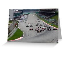 Opening Lap at the 2011 Malaysian Grand Prix Greeting Card