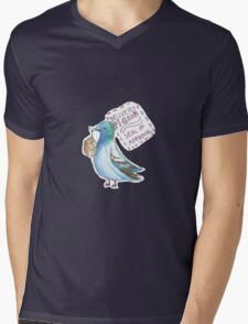 Delivery Pigeon Seal of Approval Mens V-Neck T-Shirt