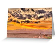 Visions Of Sunset Greeting Card