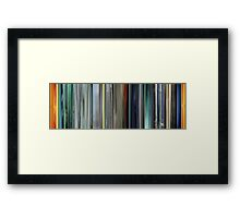 Moviebarcode: The Animatrix 2 The Second Renaissance Part I (2003) Framed Print