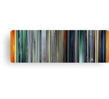 Moviebarcode: The Animatrix 2 The Second Renaissance Part I (2003) Canvas Print