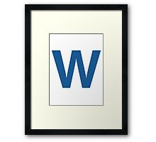 Fly The W - Cubs Playoffs Framed Print