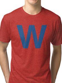 Fly The W - Cubs Playoffs Tri-blend T-Shirt