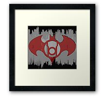 Batman Red Lantern Framed Print