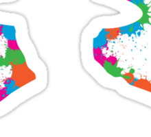 Human Paintball Shield Sticker
