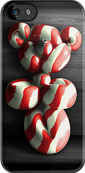 Candy Cane Teddy Balloon iPhone Case by Corbin Adler