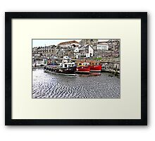 The Harbour at Seahouses,Northumberland Framed Print