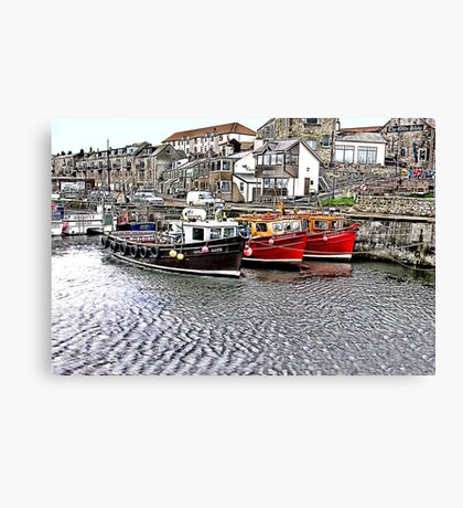 The Harbour at Seahouses,Northumberland Canvas Print