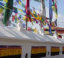 Prayer Wheels And Flags by Jan Vinclair